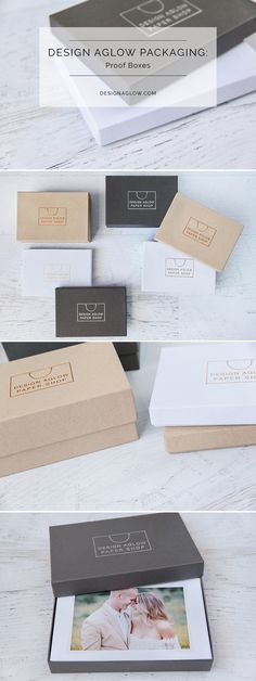 These lovely proof boxes are available in two depths and designed for a monochromatic color palette, or modular, mix-and-match use. The best part: these boxes are embossable with your studio name or logo in 16 colors (including metallics and blind embossing!) for a truly custom branded look.