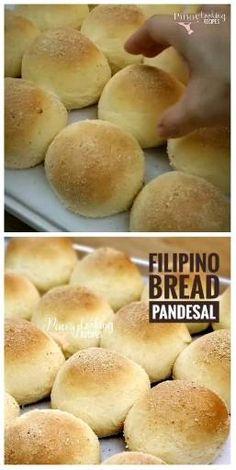 Soft, fluffy and delicious homemade Filipino Bread Philippine Bread Recipe, Filipino Bread Recipe, Best Bread Recipe, Pandesal Filipino Recipe, Pinoy Recipe, Philipinische Desserts, Filipino Desserts, Filipino Food, Pancake