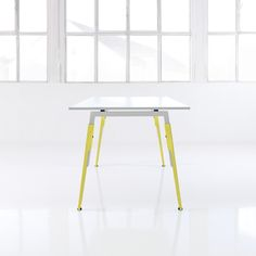 SOX, a 2009 Red Dot award winner, is a flexible and functional office furniture system. The formal division between the socks and frame accentuates the height adjustment mechanism instead of hiding it. SOX is available in different colors and materials, making the design more personal (192 color combos!).