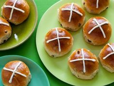 Hot Cross Buns: Dress up traditional hot cross buns by adding currants and drizzling with a lemon zest-spiked glaze.