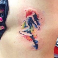dancer tattoo watercolor tattoo s tattoo ballet tattoo dancer ...