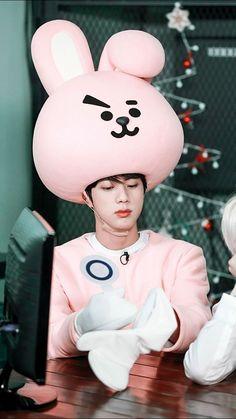 ♡ Seokjin ooown que deliciaaa! Jimin Jungkook, V Taehyung, Bts Jin, Bts Bangtan Boy, Seokjin, Namjoon, Foto Bts, Foto Rap Monster Bts, V And Jin