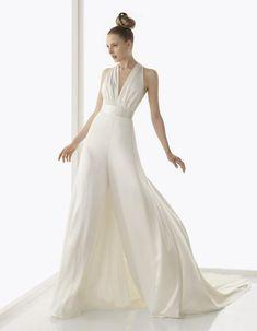 Traje de novia minimal con pantalón. #Blog #Innovias