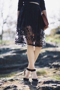 Beautiful Blue Skirt from http://eyecandyscom.tumblr.com