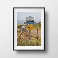 Goat Sign, Sign Photography, Funny, Fine Art Print, Home Decor, Street Sign, Private, Animal Crossing, Goats