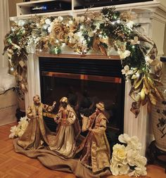 Our fireplace. #Christmas