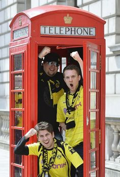 Borussia Dortmund fans invade London for the Champions League final.