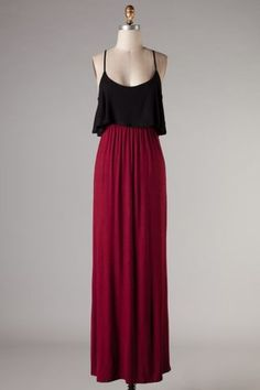 Crimson & Black Gameday Maxi Dress