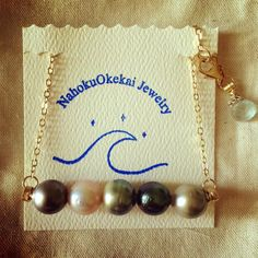 Tahitian Pearl Bar Necklace