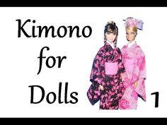 ▶ How to make doll clothes - Kimono (part 1) - YouTube