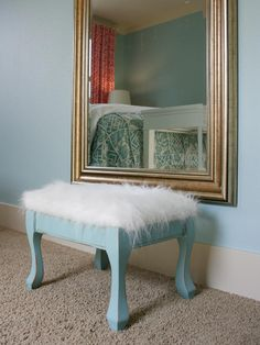 Kids Room Projects Turquoise Ottoman