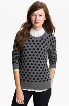 Only Mine Polka Dot Cashmere Sweater | Nordstrom - finally added a polka dot sweater to my wardrobe.