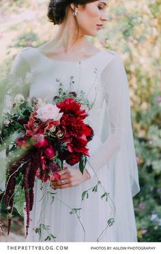 A winter wedding full of luscious berry tones and exquisite bridal gown… Disney Wedding Dresses, Wedding Dress Chiffon, Tea Length Wedding Dress, Gown Wedding, Champagne Bridesmaid Dresses, Bridesmaid Flowers, Blush Wedding Flowers, Wedding Bouquets, Summer Wedding Centerpieces
