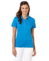 Opti-Vent Ladies' Polo Striped Knit, Knitted Fabric, Rib Knit, Polo Shirts, Chic, Lady, Mens Tops, How To Wear, Board