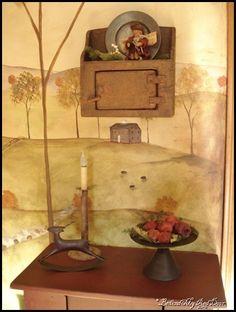 Linda has a great blog. I love her primitive decorating