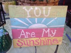 YOU ARE MY SUNSHINE BABY NURSERY Art Plaque GIRL BEDROOM Decor Country Cottage #Unbranded