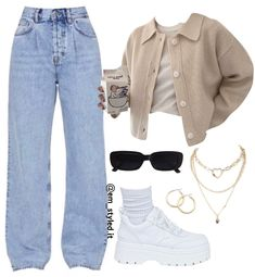 Kpop Fashion Outfits, Winter Fashion Outfits, Retro Outfits, Cute Casual Outfits, Comfortable Outfits, Polyvore Outfits, Aesthetic Clothes, Streetwear Fashion, Korea