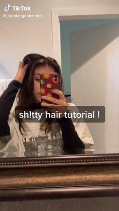 Bad hair day to good hair day in minutes TikTok : @_tatelangdonsbItch