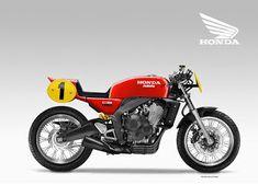 Motosketches: HONDA SAMOTO CB 650 RACER CONCEPT