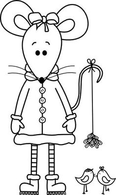 Beyond the Fringe: Christmas Mouse Digital Stamp Christmas Coloring Pages, Coloring Book Pages, Hand Embroidery, Embroidery Designs, Applique Patterns, Digital Stamps, Christmas Colors, Needlework, Cross Stitch