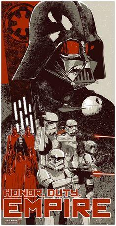 Honor. Duty. Empire. - Star Wars Propaganda Poster