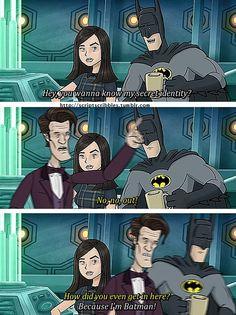 The Doctor meets Batman  Love it? Follow us for more fandom pins!