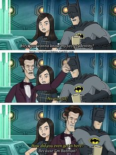 The Doctor meets Batman Love it? Follow us for more fandom pins!