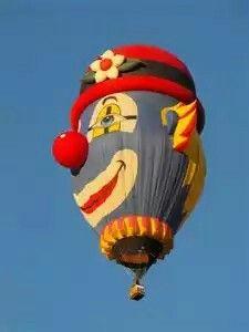 Clown Hot Air Balloon In Albuquerque, New Mexico ~2014 Balloon Fiesta