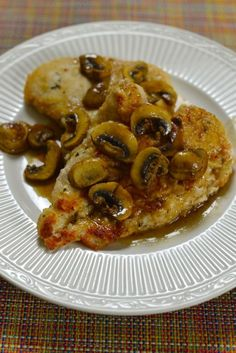 Chicken Marsala is a true Italian classic dish. Chicken Marsala is make with wine, onions, mushrooms, and chicken breasts. You can serve this with mashed potatoes or even pasta.