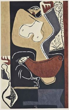 Femme à la main levée, 1954, Le Corbusier. (1887 - 1965) - lithograph in colours - ✏✏✏✏✏✏✏✏✏✏✏✏✏✏✏✏ IDEE CADEAU / CUTE GIFT IDEA ☞ http://gabyfeeriefr.tumblr.com/archive ✏✏✏✏✏✏✏✏✏✏✏✏✏✏✏✏