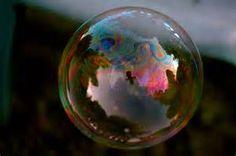 iridescent soap bubble