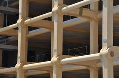 shigeru ban: tamedia office building nearing completion