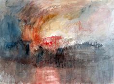 William Turner: Sketch of The Burning of the Houses of Parliament, 1824