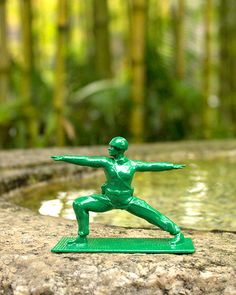 Yoga Joes ... Green Army Men have not been this cool since the original Toy Story.