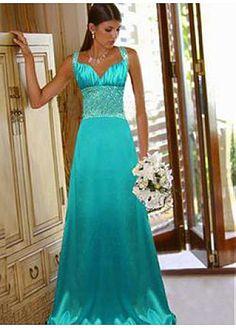 Elegant Charmeuse Sweetheart Long Prom Dress