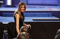 Melania Trump Photos Photos - Melania Trump arrives before the start of the third U.S. presidential debate at the Thomas & Mack Center on October 19, 2016 in Las Vegas, Nevada. Tonight is the final debate ahead of Election Day on November 8. - Final Presidential Debate Between Hillary Clinton and Donald Trump Held in Las Vegas