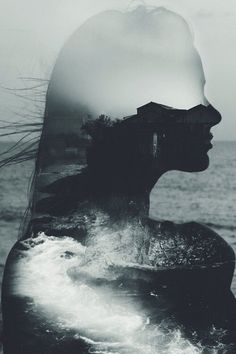 #blackandwhite tumblr #photography hipster - Buscar con Google #creative #double #exposure