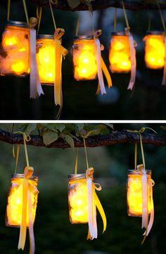 Mason Jar Party Lanterns   Click Pic for 24 DIY Garden Lighting Ideas   DIY Outdoor Lighting Ideas