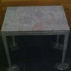 Decoupage table :) out of word searches!!