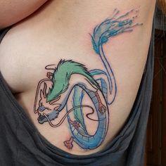 Spirited Away dragon by Denton Tattoo