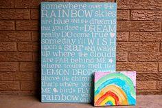 somewhere over the rainbow art DIY