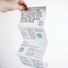 Instructional Mailer by Angela Higgins, via Behance