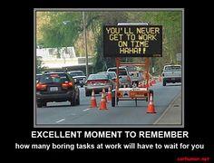 Work Humor | ... Jam car-joke-funny-humor-traffic-jam-late-for-work – Car Humor Everydy I go through this !!!