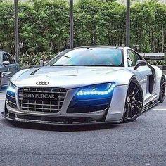 Super low Audi R8.