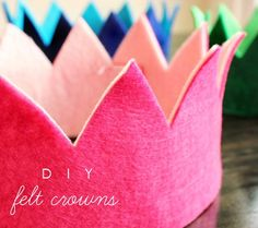 12 Adorable DIY Birthday Hats and Crowns   expanded idea: use for base foundation for headdress crowns rigid hats for period costume with a just a bit of tweaking.