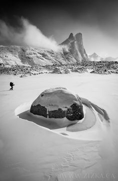 Arctic Alien - One of best parts of 2011 for me was ski touring on Baffin Island. 5 days of bliss (albeit cold bliss) in big, empty Auyuittuq National Park. The grand peak in this image is Mount Thor, which has the Earth's greatest purely vertical drop at 1,250m. An impressive sight so say the least. Thanks for stopping by. I will be featuring mostly images from a recent trip to Nepal over the next weeks, interspersed with the odd shot from the Canadian Rockies and the High Arctic…