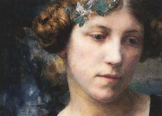 Edgard Maxence Detail from; Jeune fille jouant...