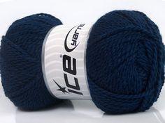Fiber Content 60% Virgin Wool 40% Acrylic Navy Brand Ice Yarns fnt2-43533