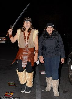 Conan the Barbarian Jr! Joseph is pictured dressed up like Arnie for Halloween 2011 accompanied by his mother