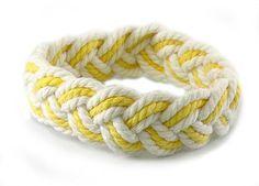 Sailor Knot Bracelet Yellow & White